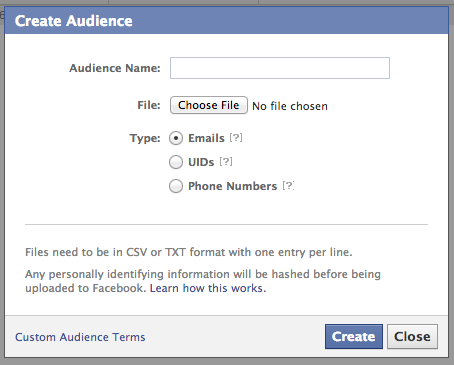 GDPR és A Facebook Custom Audience
